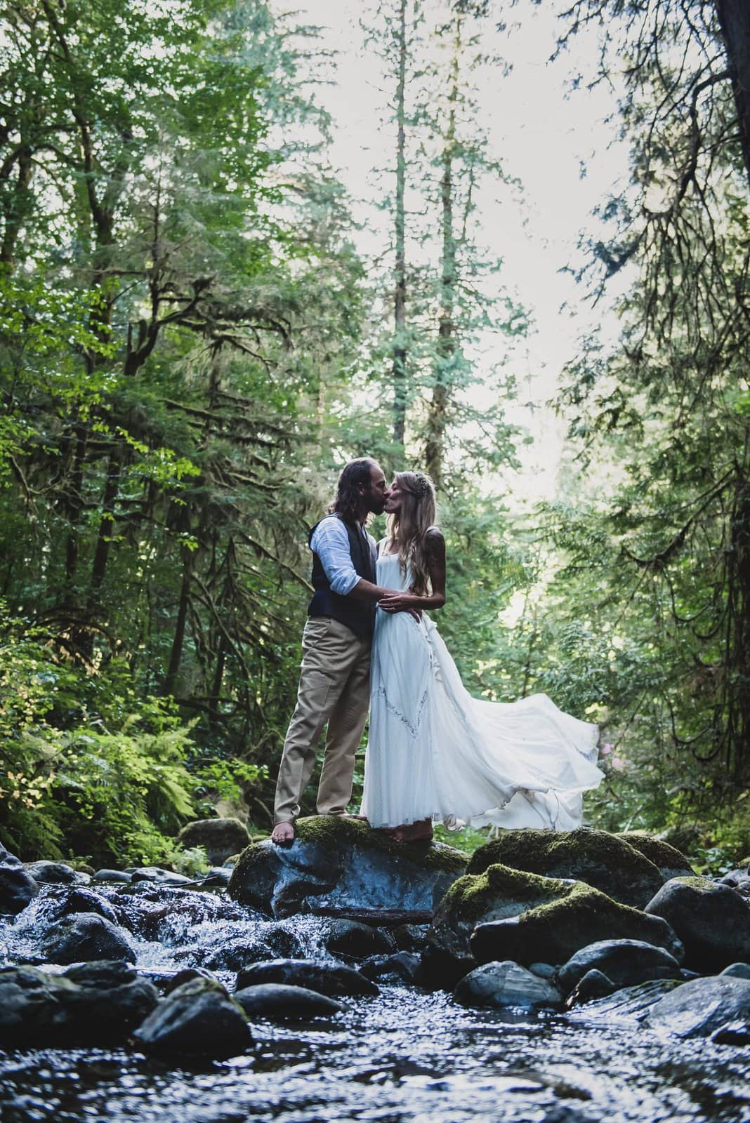 Couple portraits in the forest.