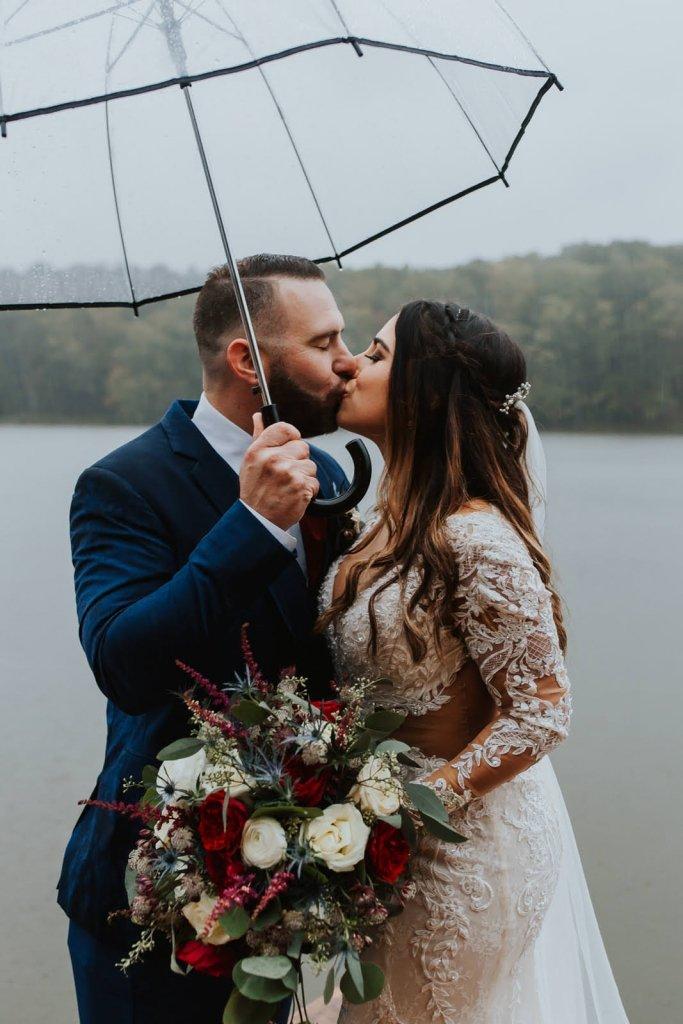 Elopement inspiration for ceremonies in the rain.