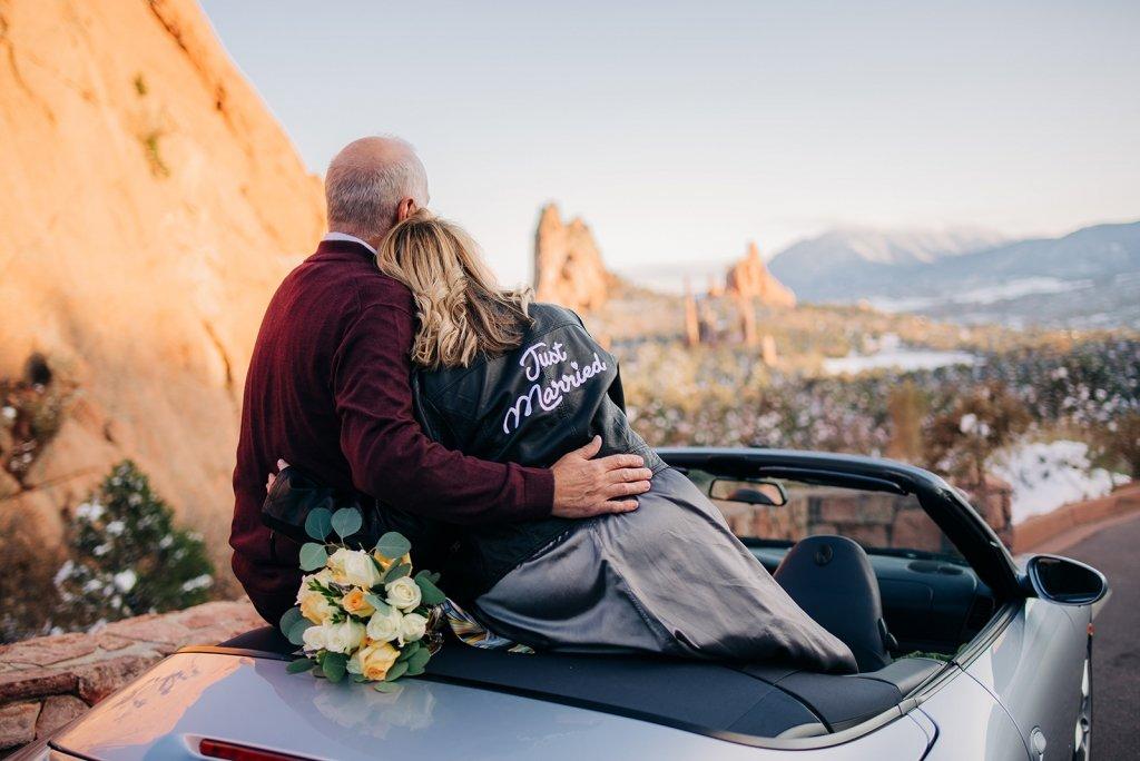 road trip portraits during wedding.