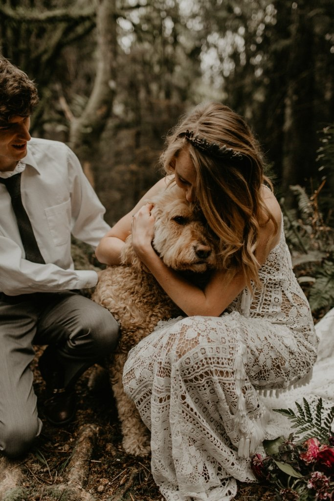 Wedding dress for elopement for adventurous wedding