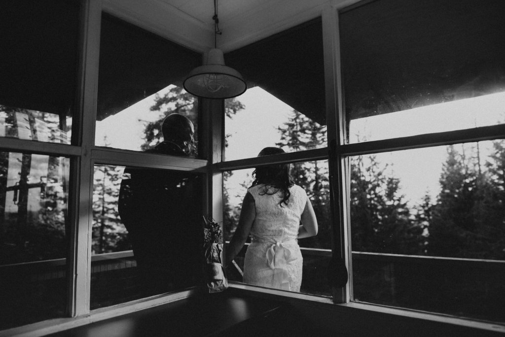 window shot of simple elopement.