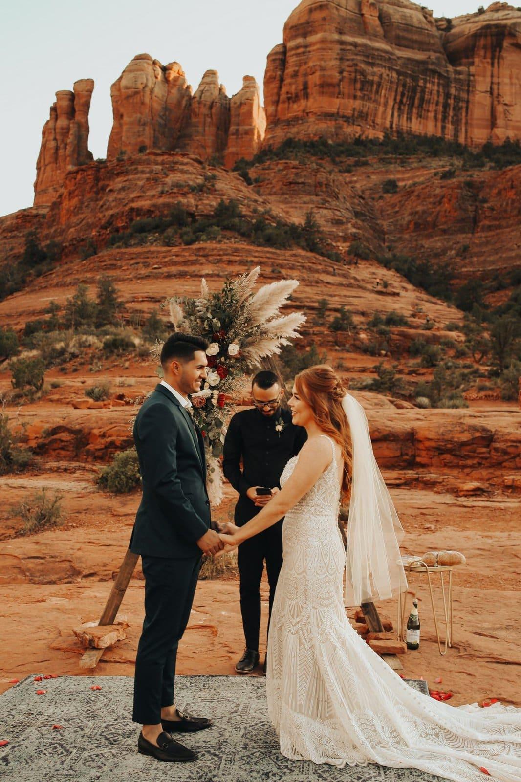 emotional sedona red rocks elopement