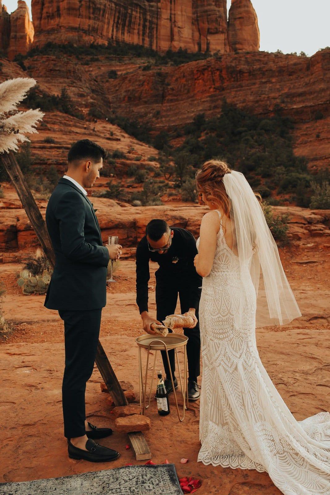 intimate elopement ceremony.