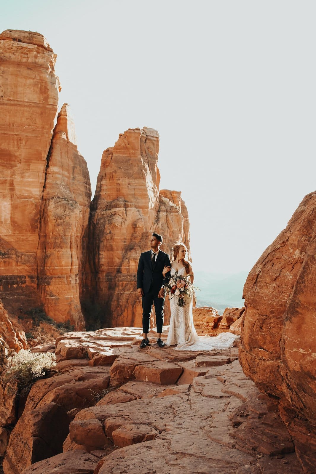 sedona red rocks elopement photography