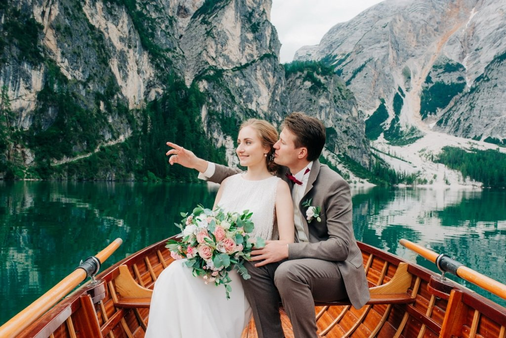 elopement photography on a boat.