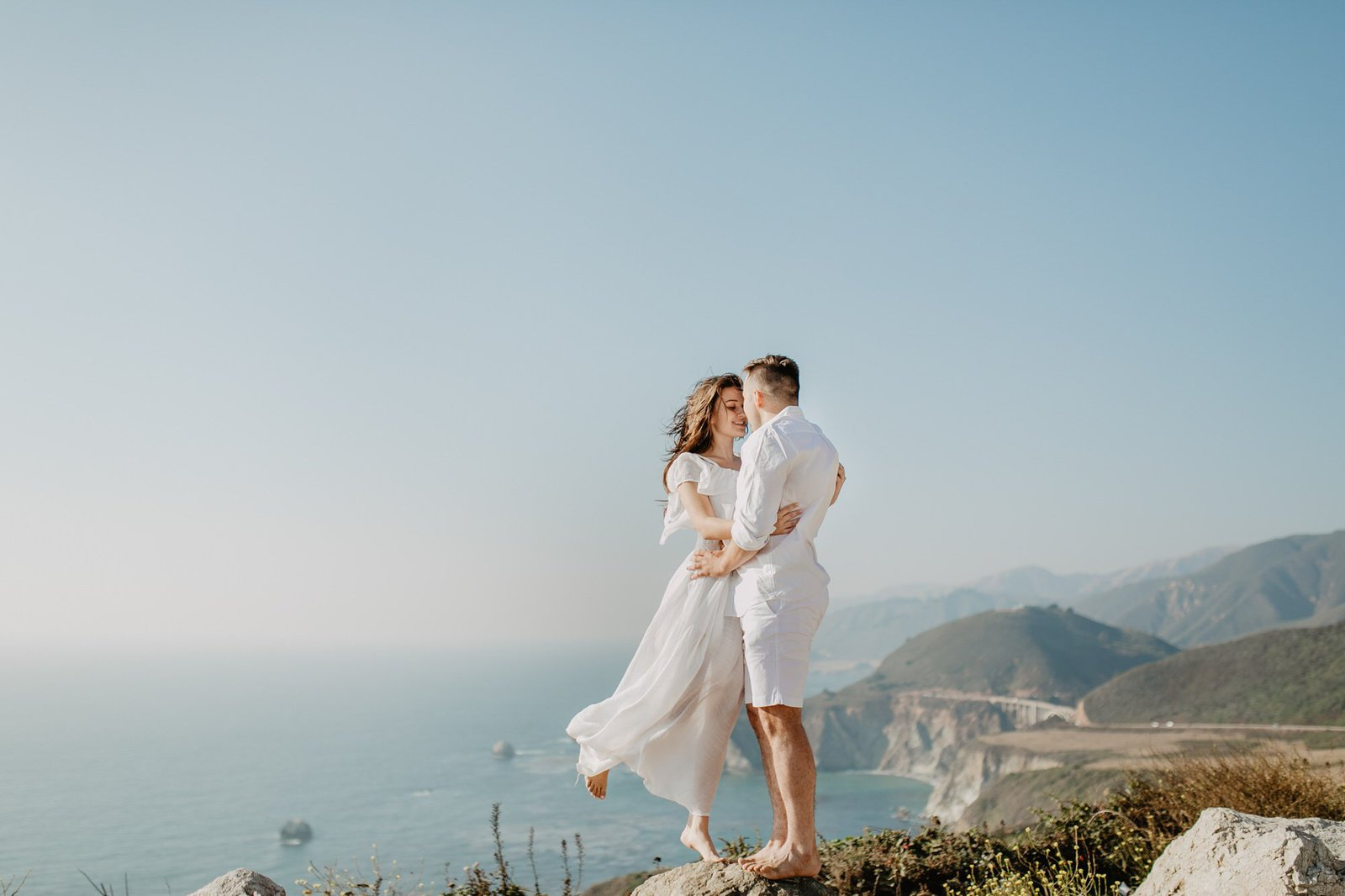 big sur engagement session.