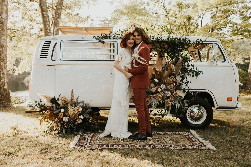 boho wedding portraits.