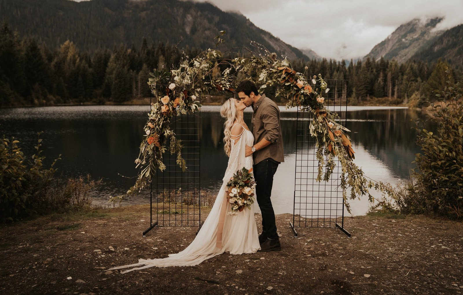 bohemian wedding arch inspiration.
