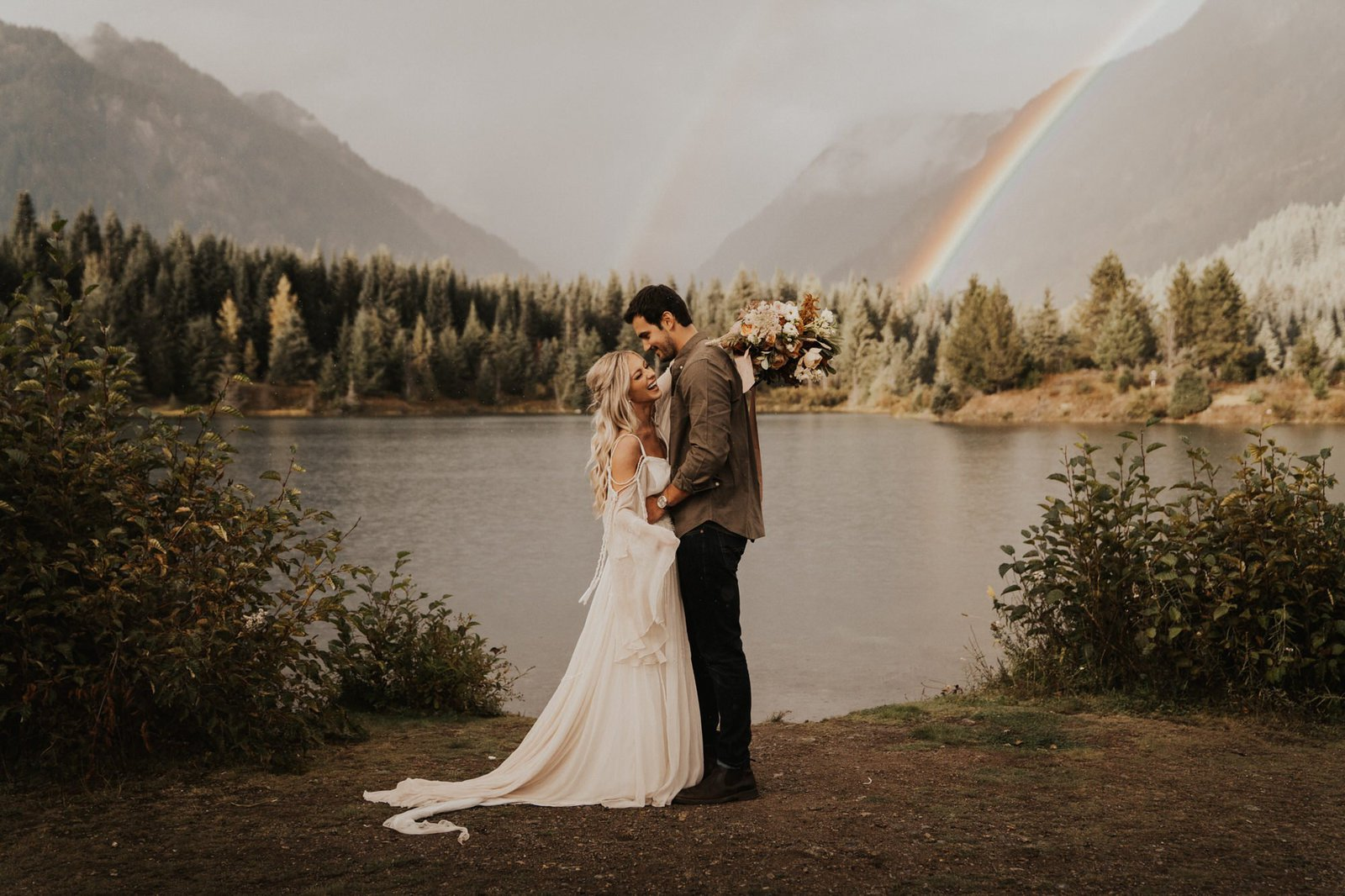 Wedding portraits for boho couples.