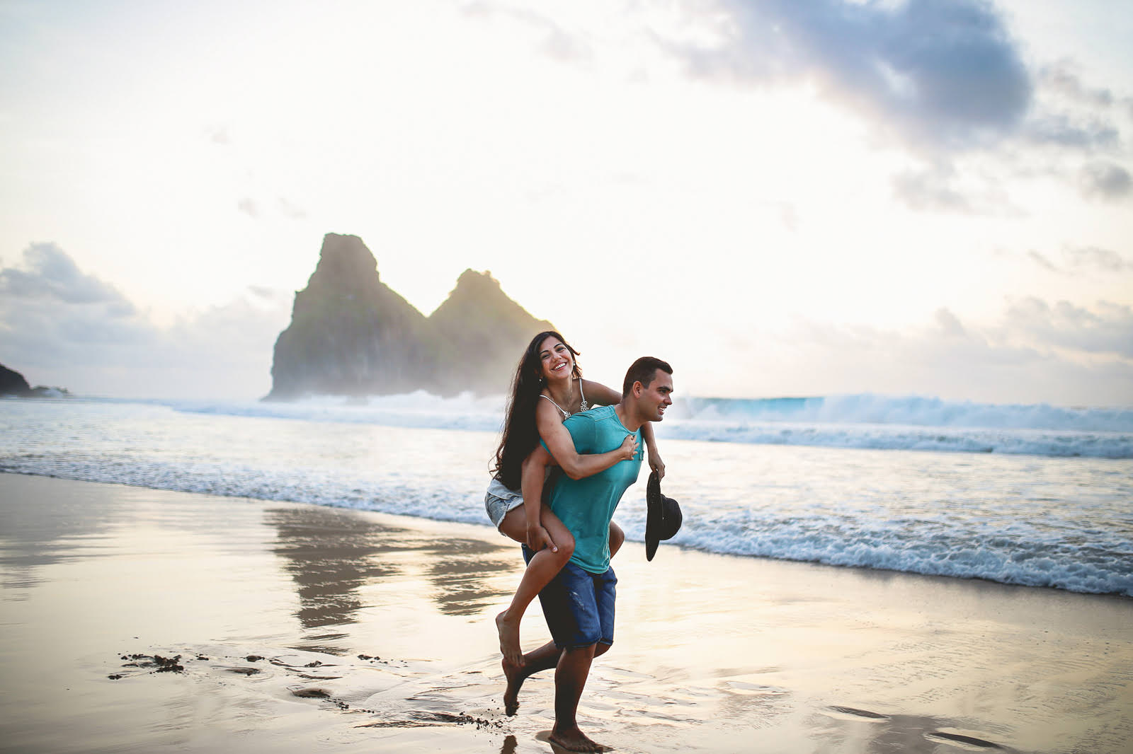 engagement session by the beach