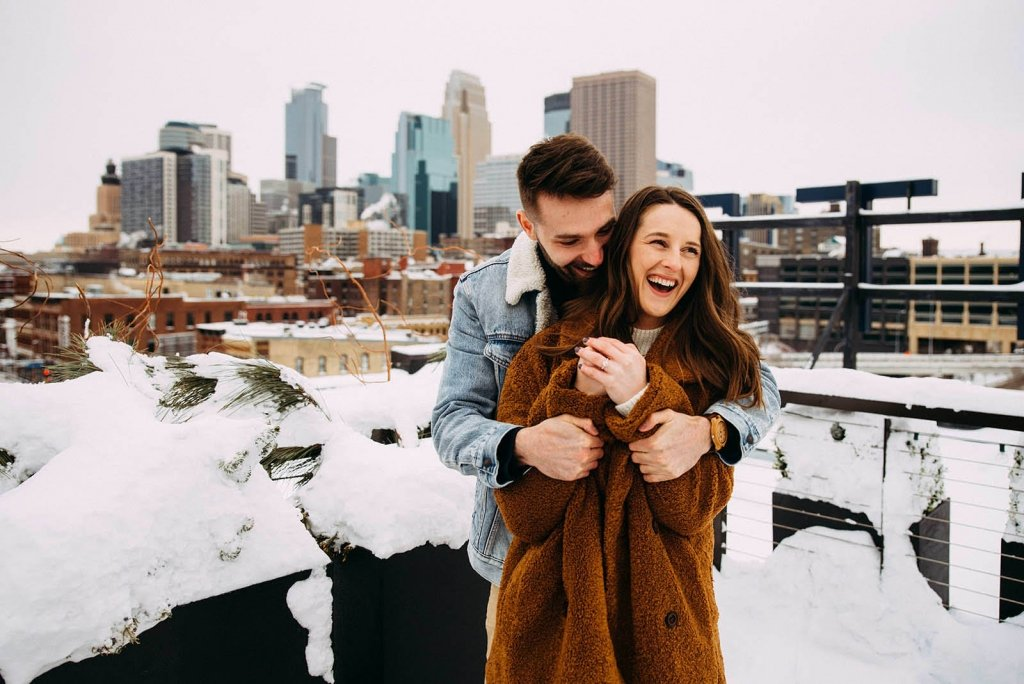 winter engagement session inspiration