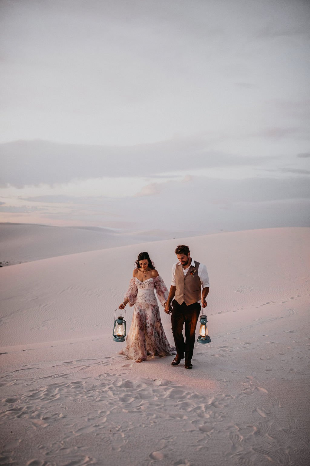 elopement in the white sands desert