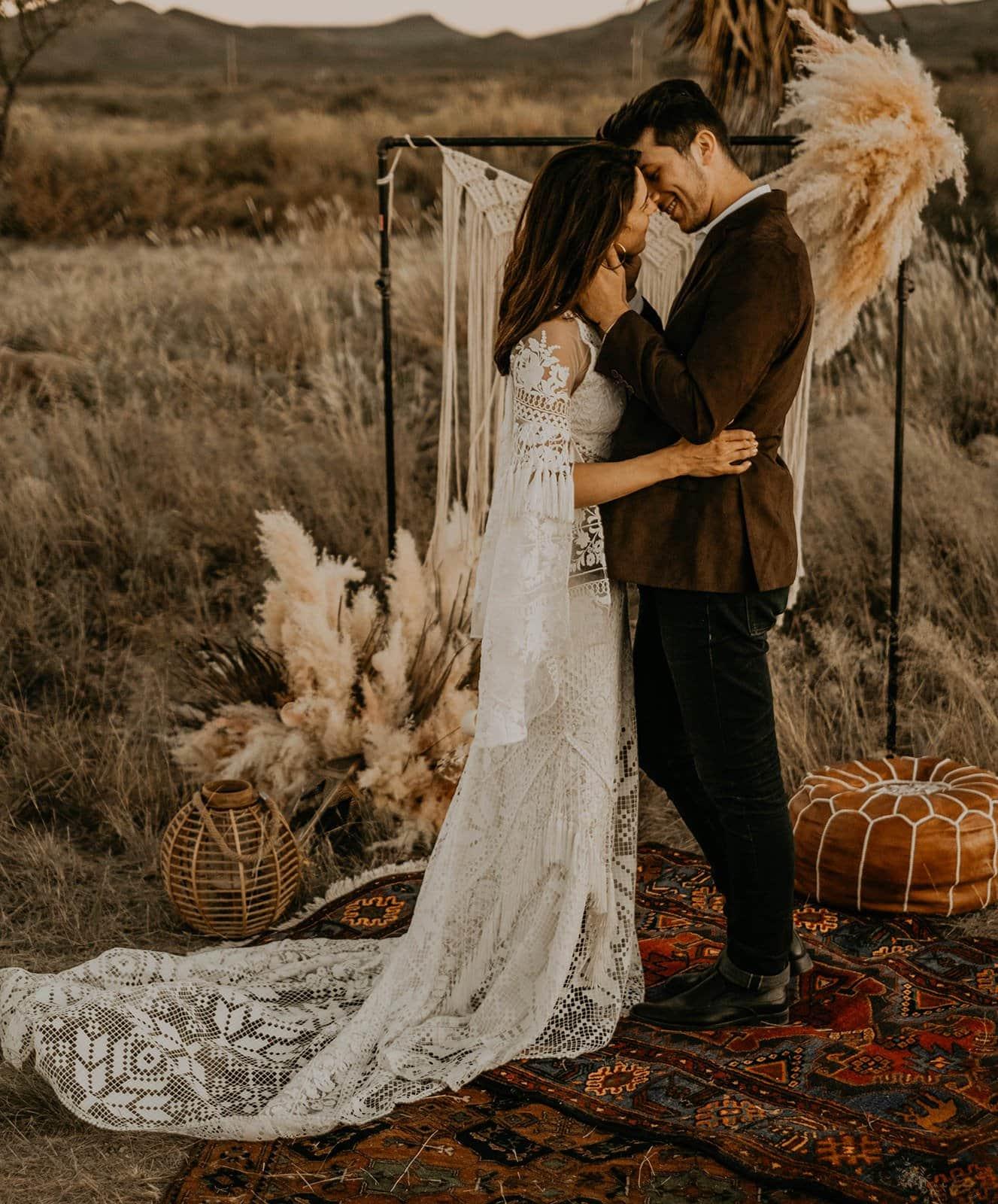Wedding photography of styled shoot.