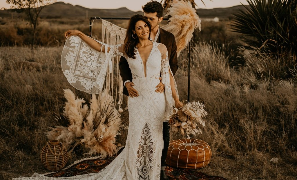 boho wedding inspiration with romantic details.