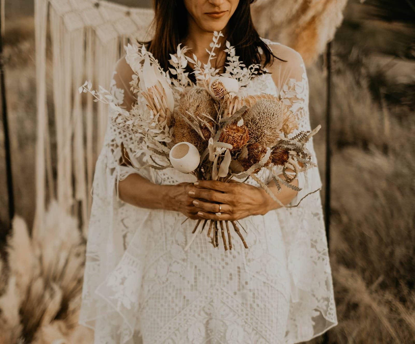 bohemian bridal bouquet.
