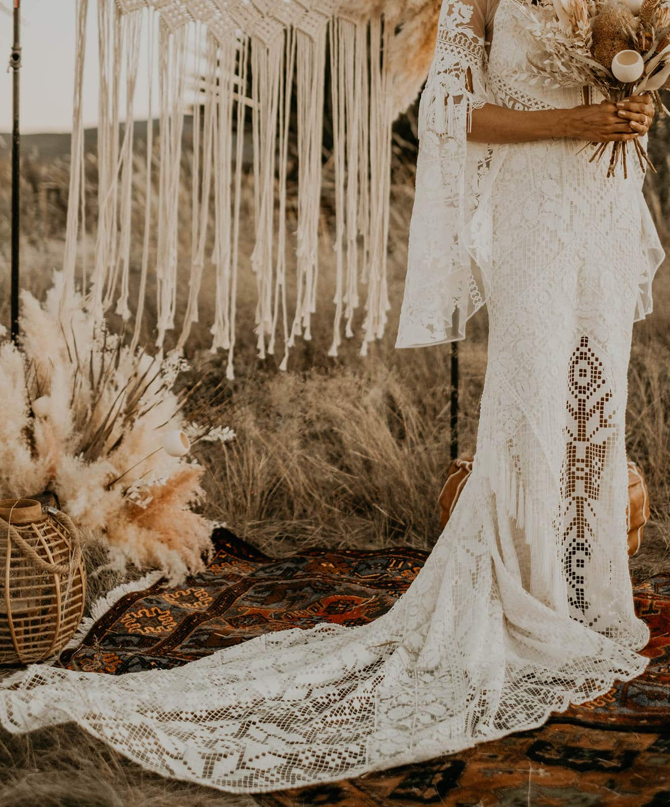 A&Be Bridal gown details.