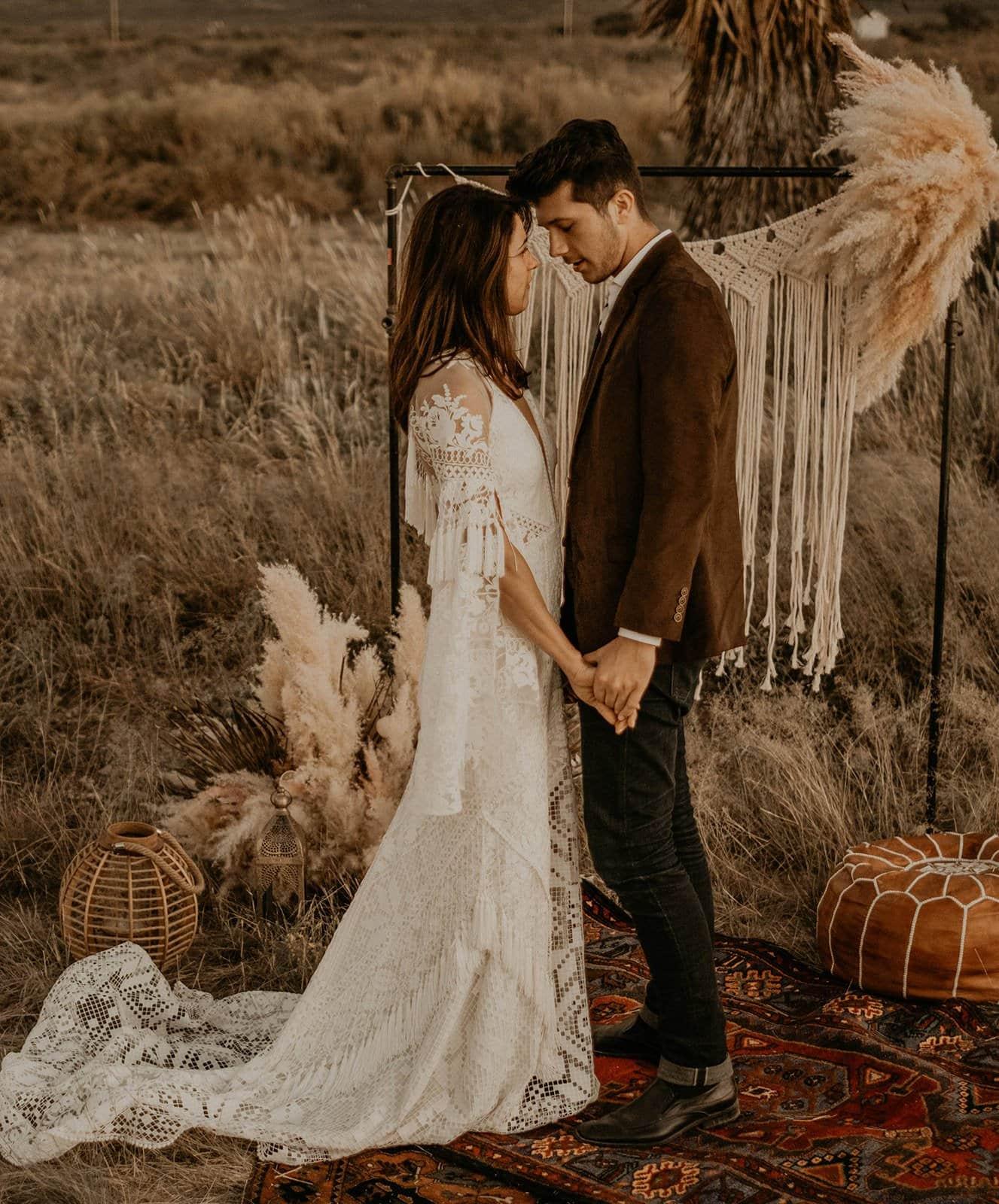 bride and groom portrait shot.