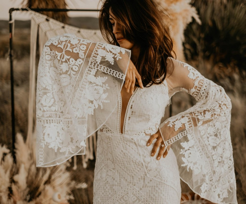 A&Be Bridal dress sleeve details.