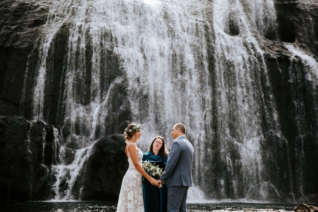 waterfall iceland elopement