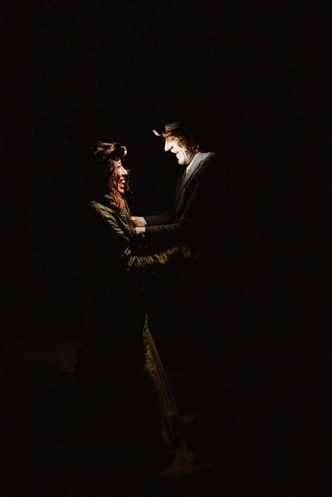 first look under the stars wedding adventure