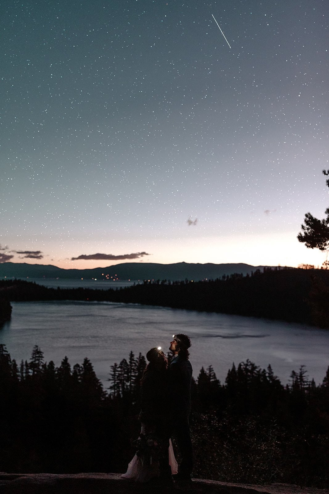 Lake Tahoe sunrise wedding adventure