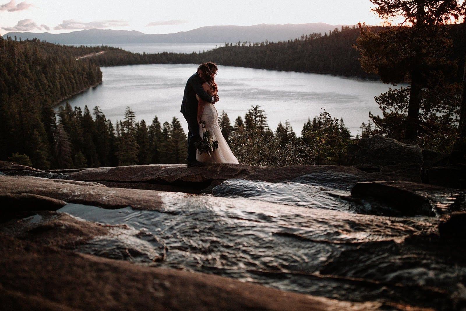 sunrise wedding hike