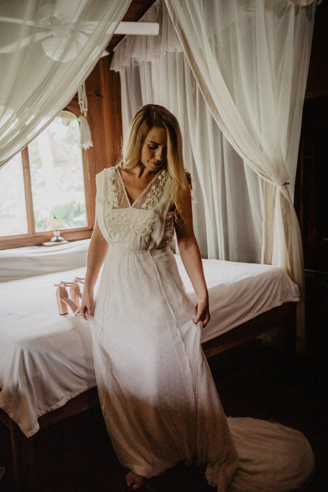 bridal portraits in dress.