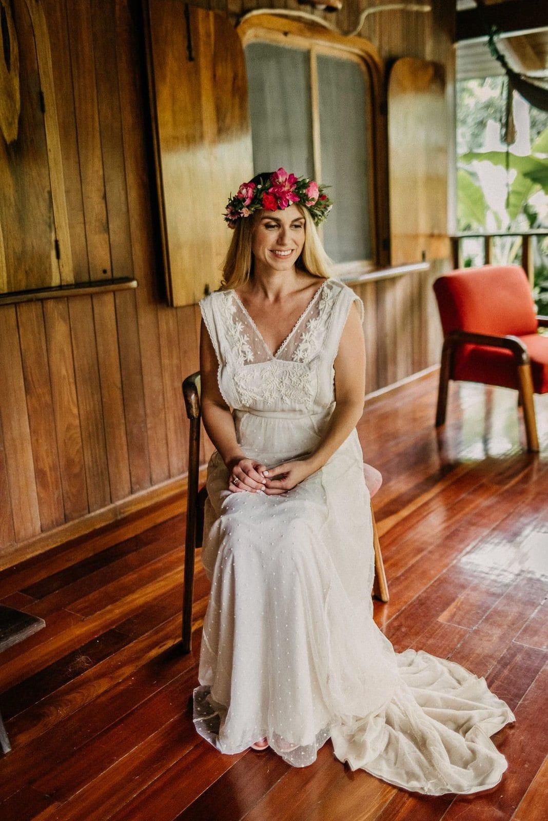 bride during costa rica wedding