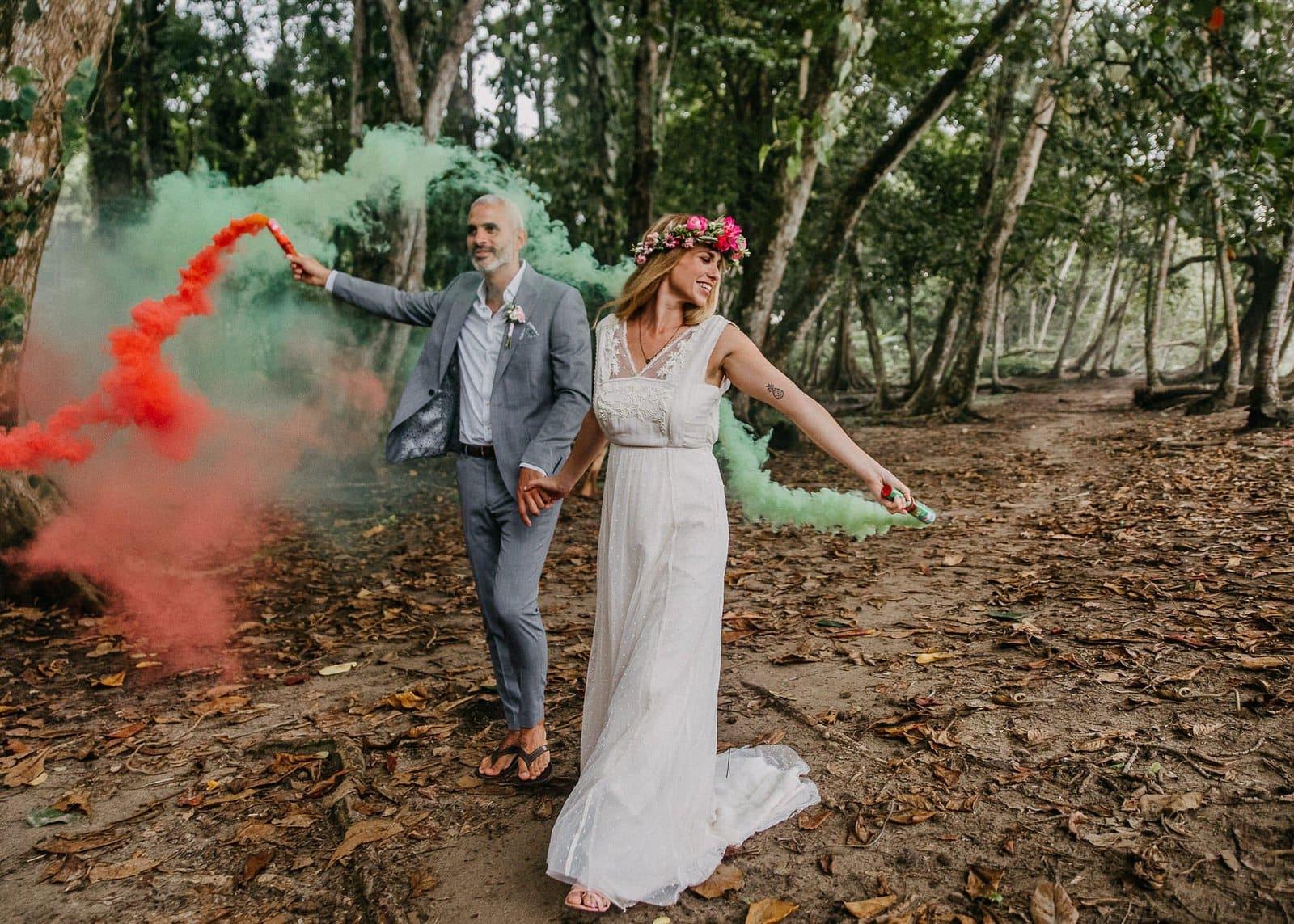 Costa Rica fun elopement.