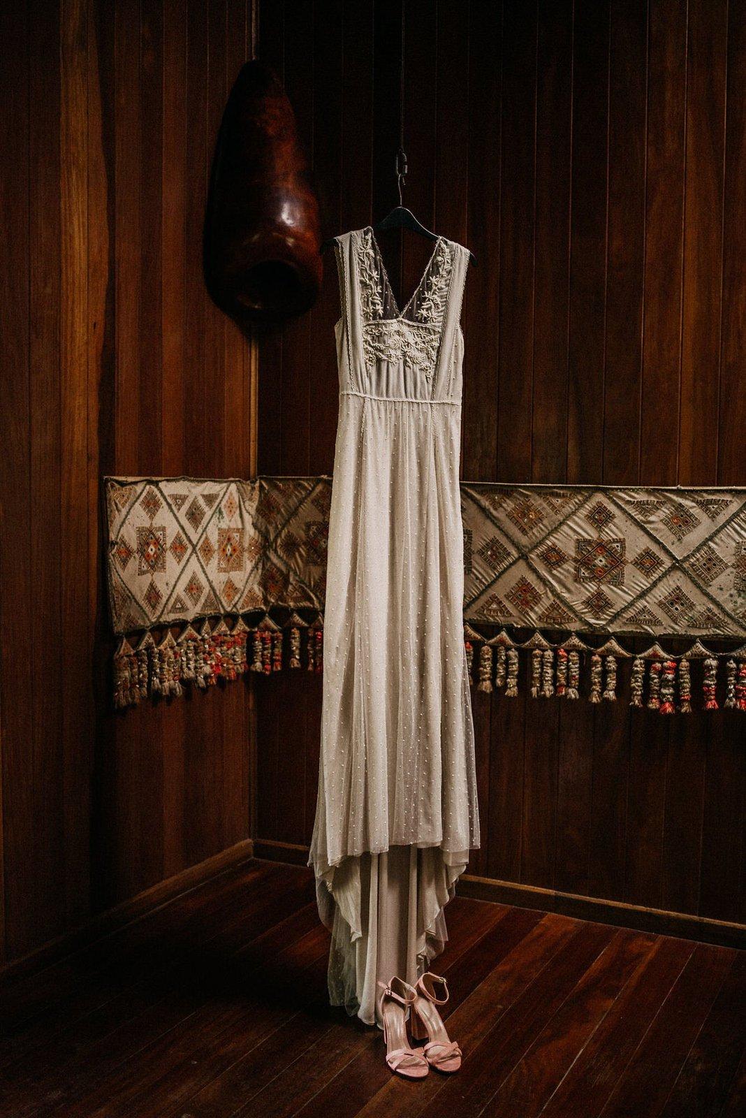 Bridal wedding dress.