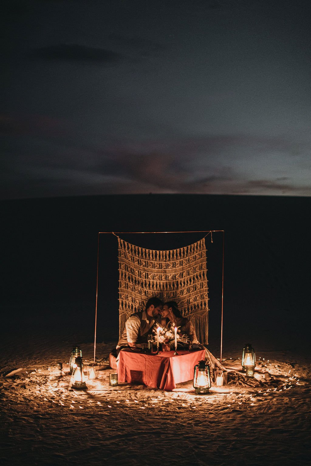 elopement in the desert celebration