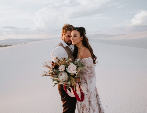 Desert Wedding Details From This White Sands Elopement