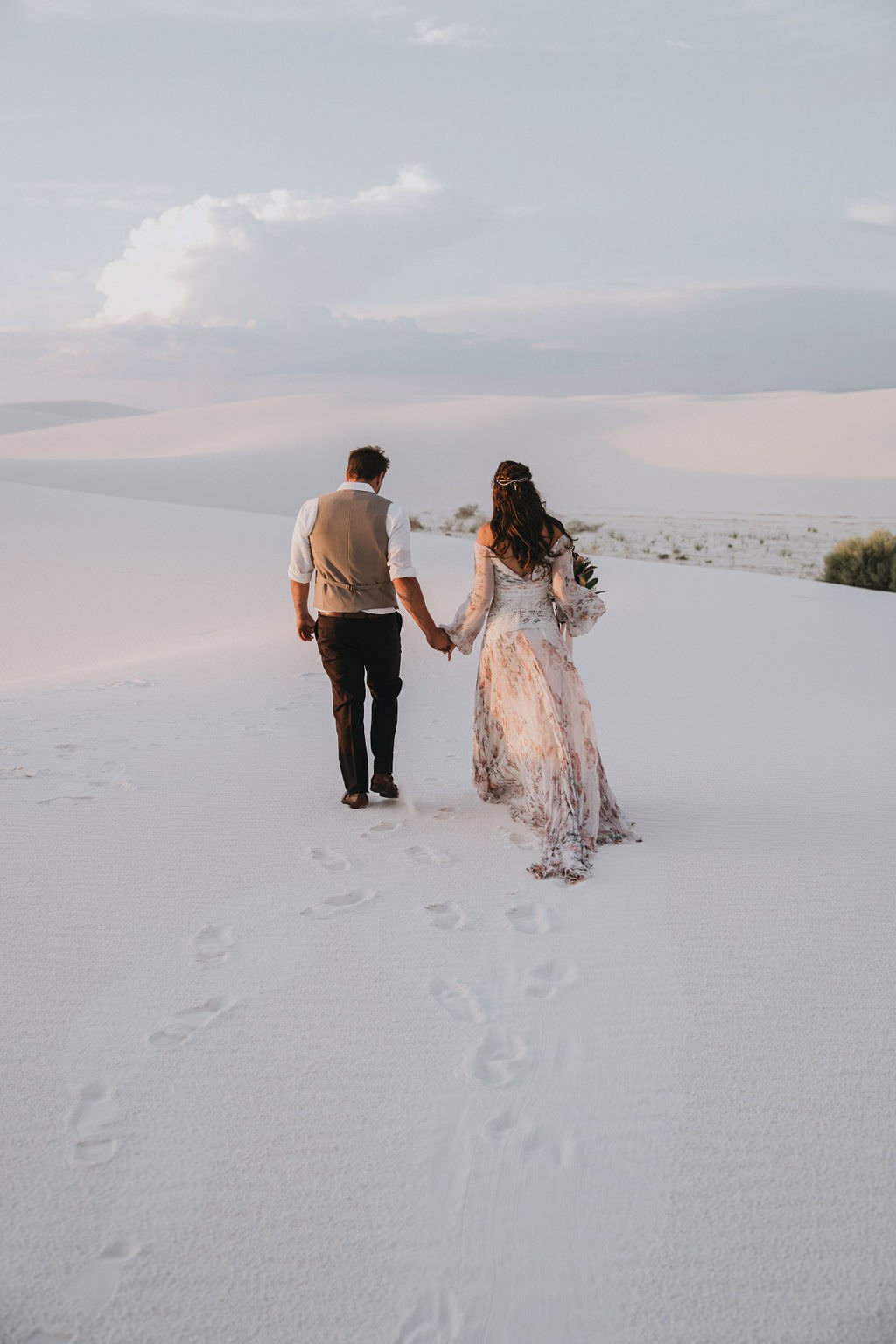 desert elopement sunset.