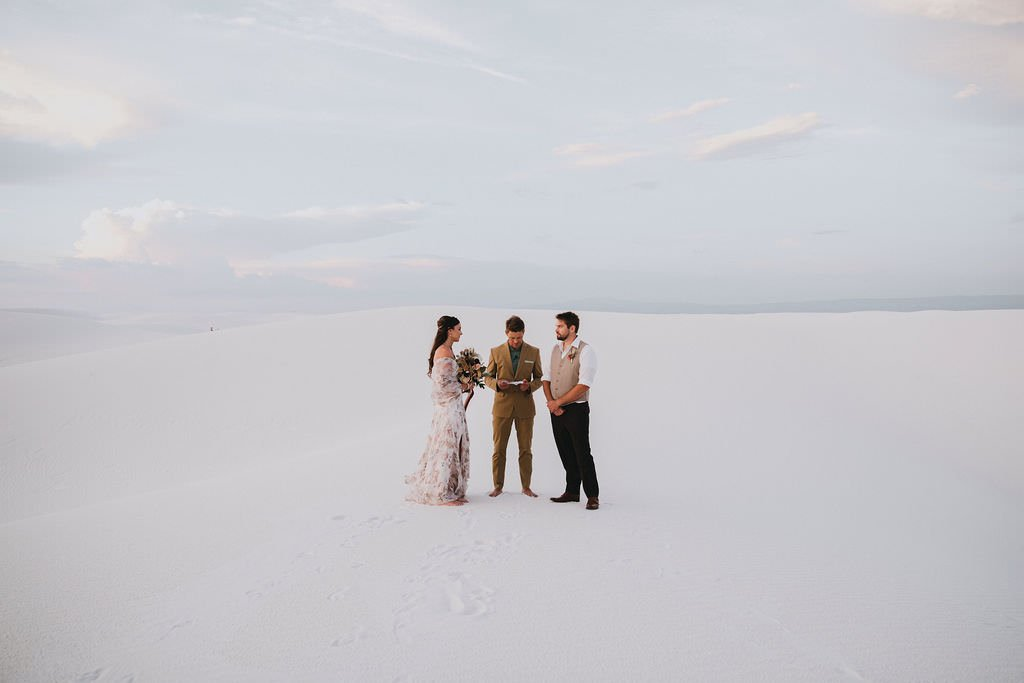desert wedding ceremony.
