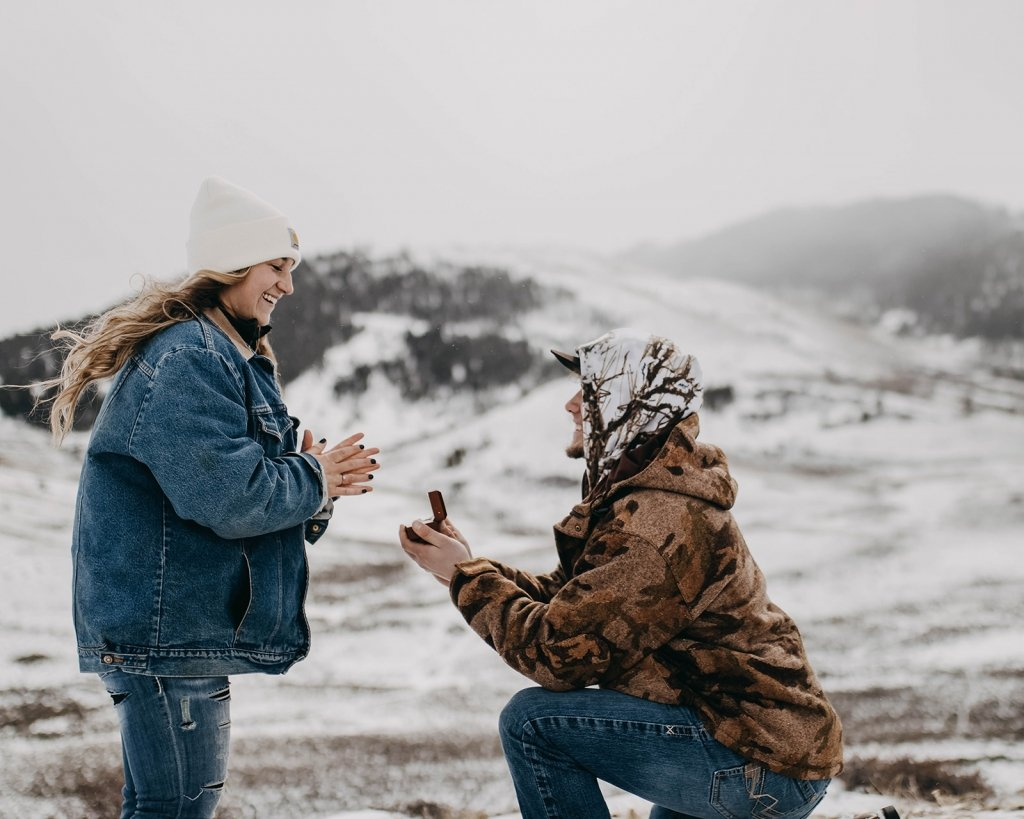 winter engagement proposal.