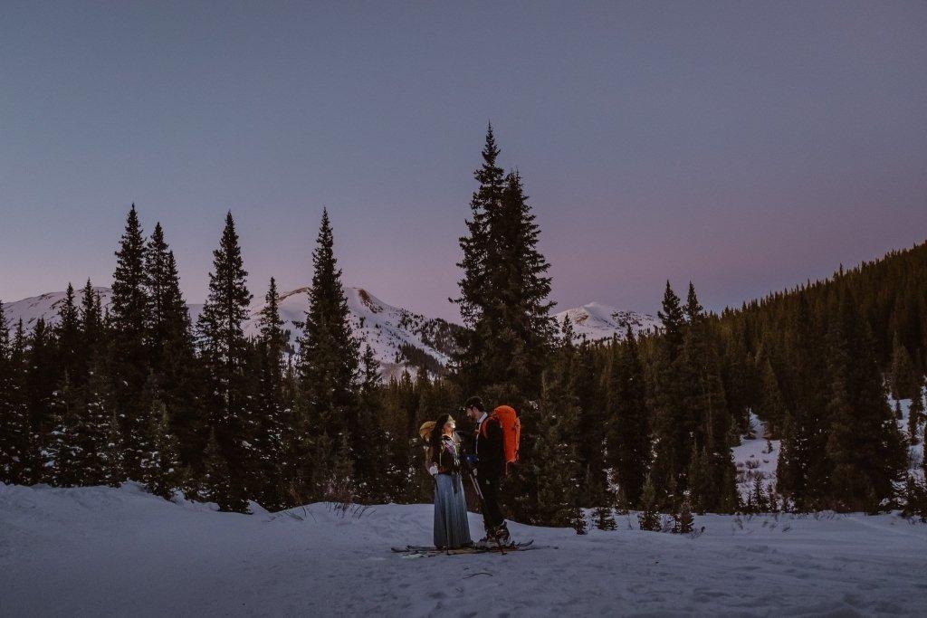 skiing elopement in Colorado
