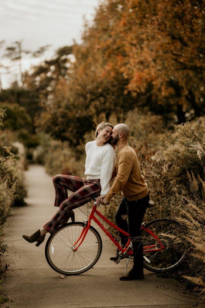adventurous photo session for engagement