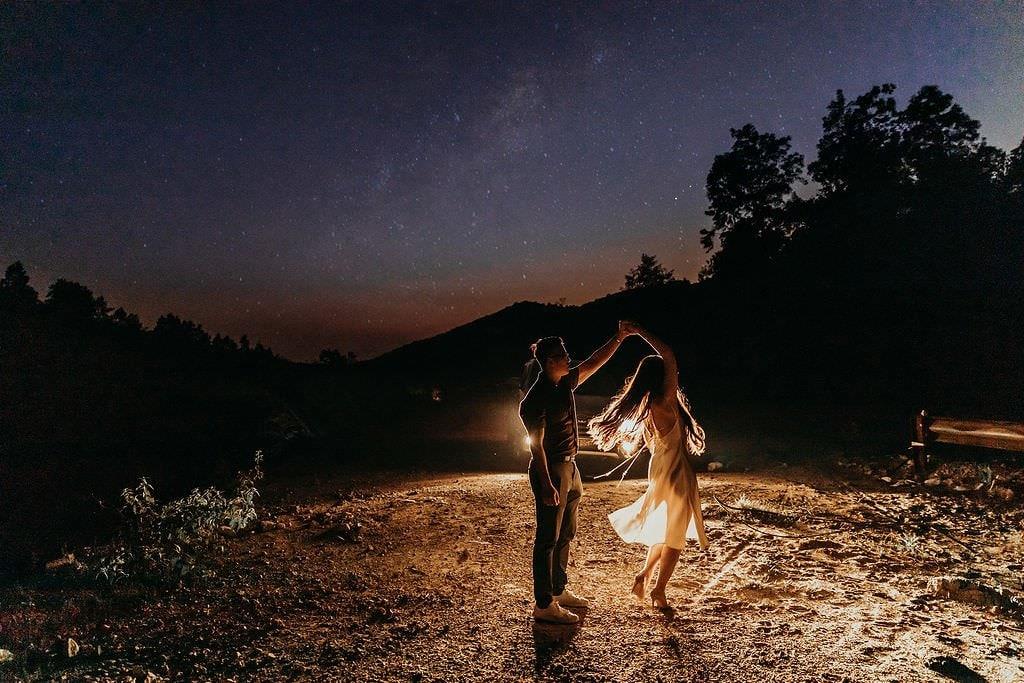 first dance on mountain elopement.
