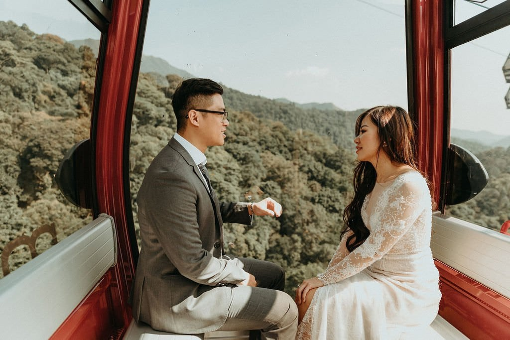 bride and groom on a elopement adventure.