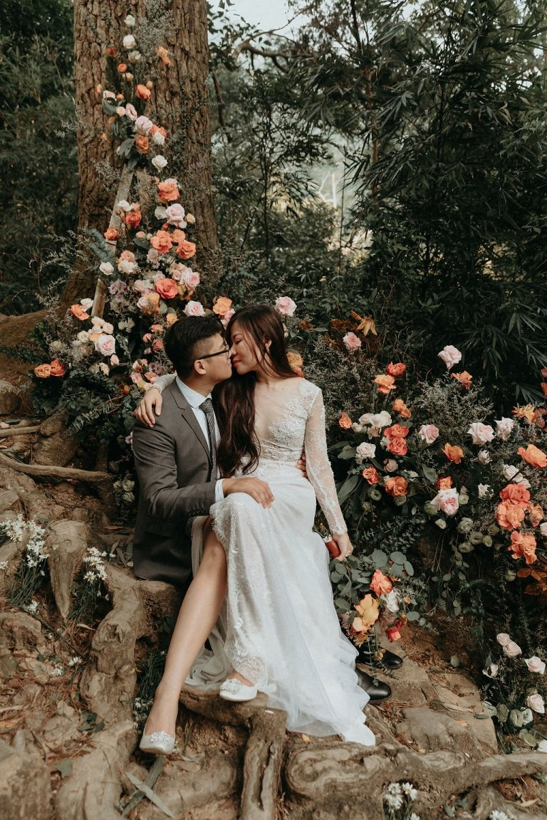 mountain elopement photography in Vietnam.
