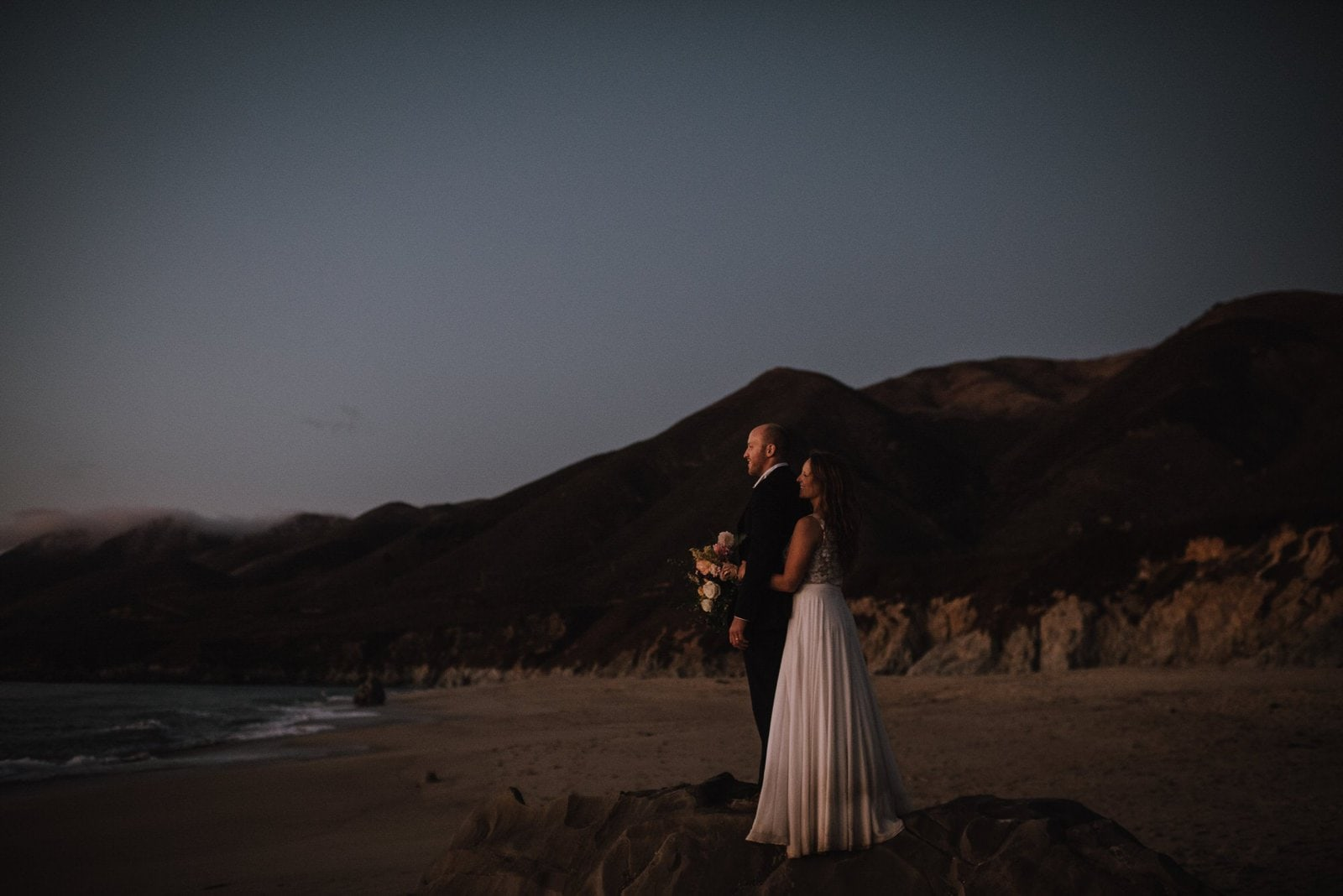 nighttime in the big sur