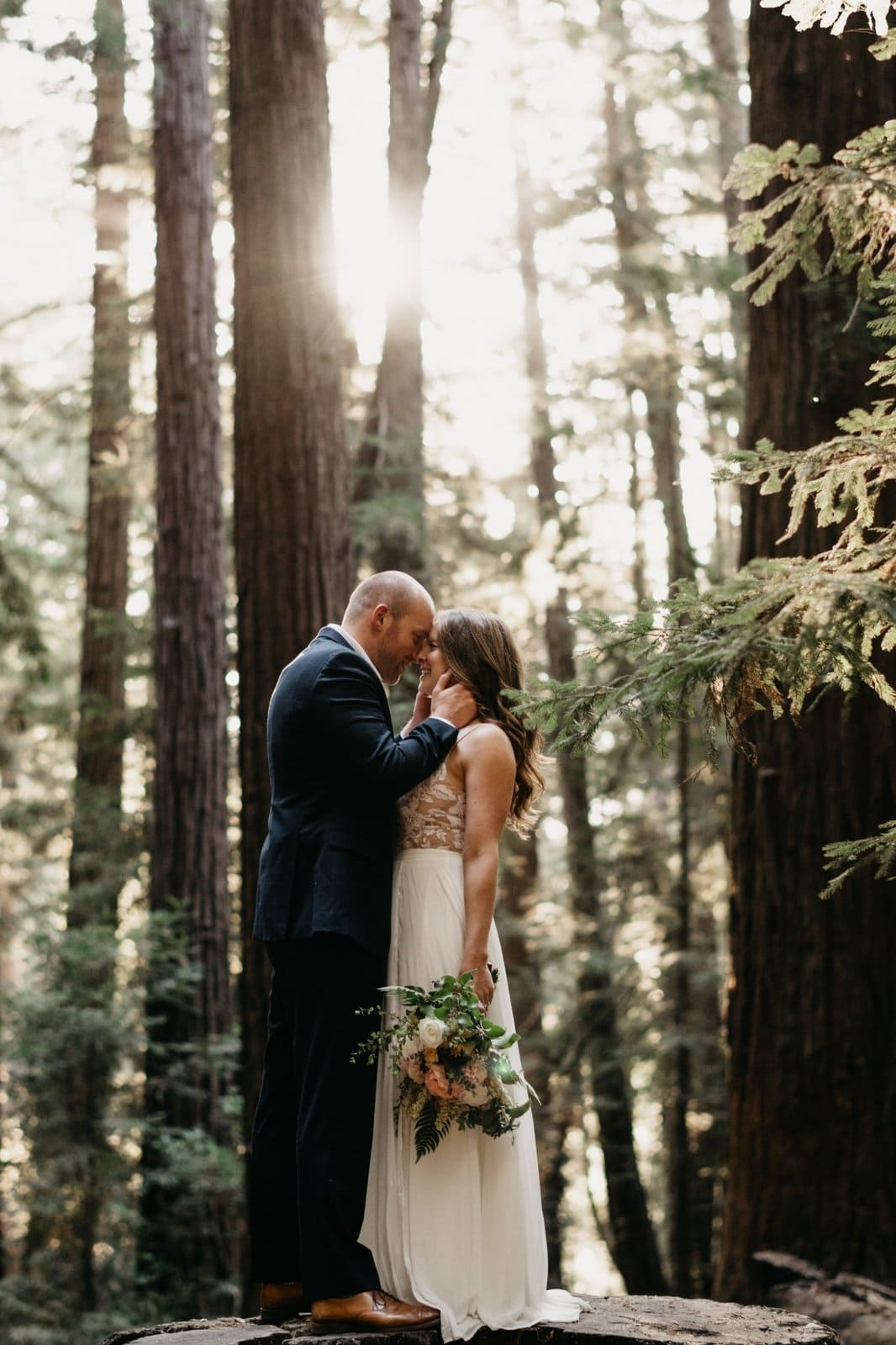 couple in the trees of California.