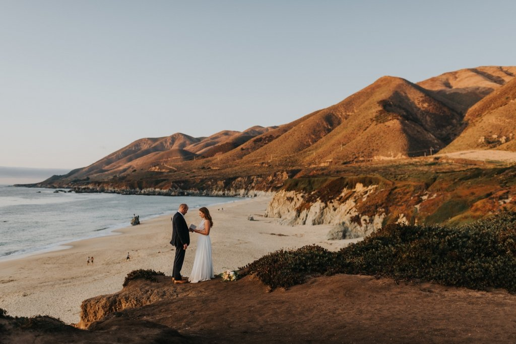 bride exchange vows