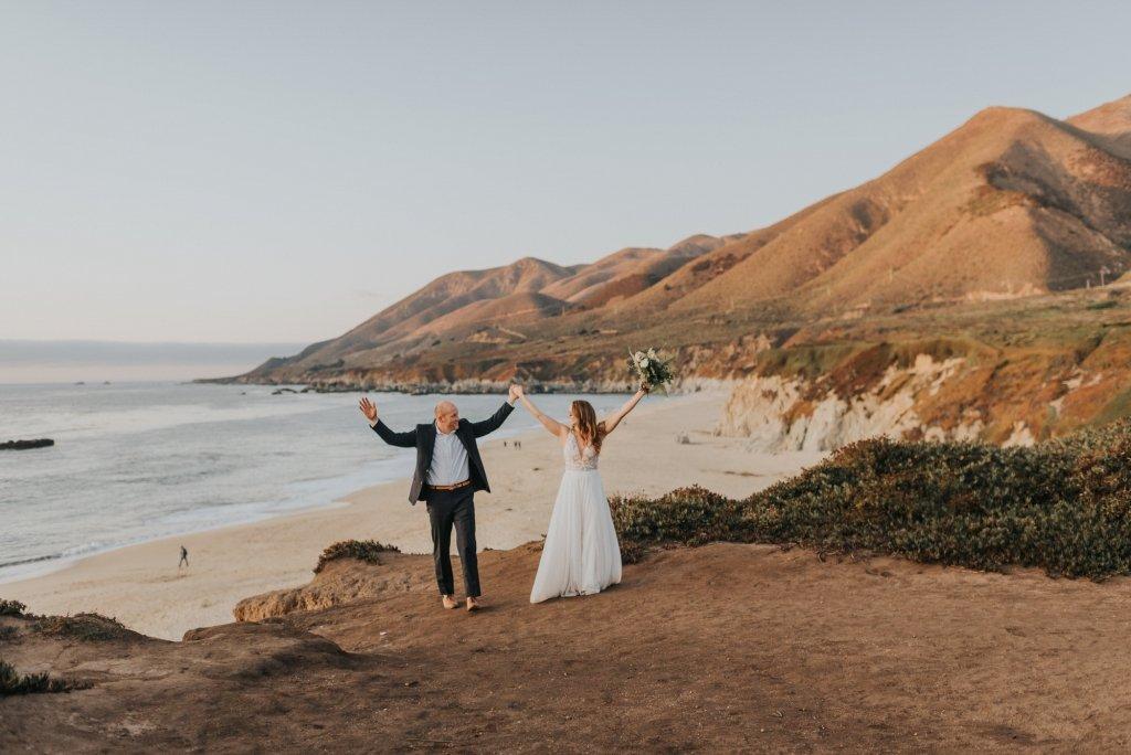 celebrating marriage at Big Sur