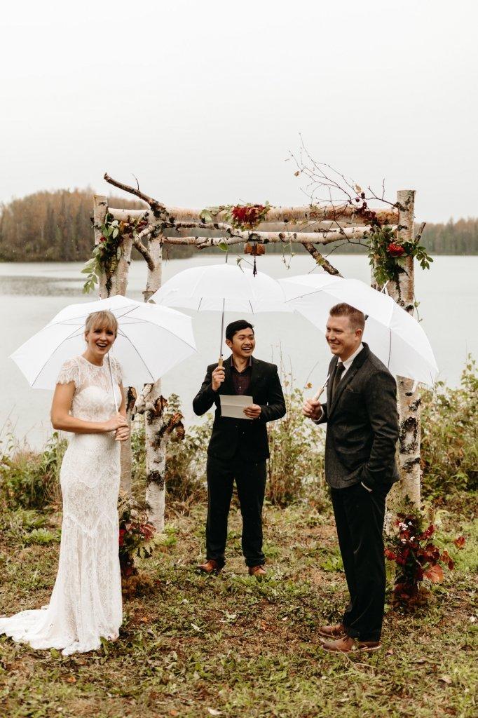 Alaska elopement ceremony details