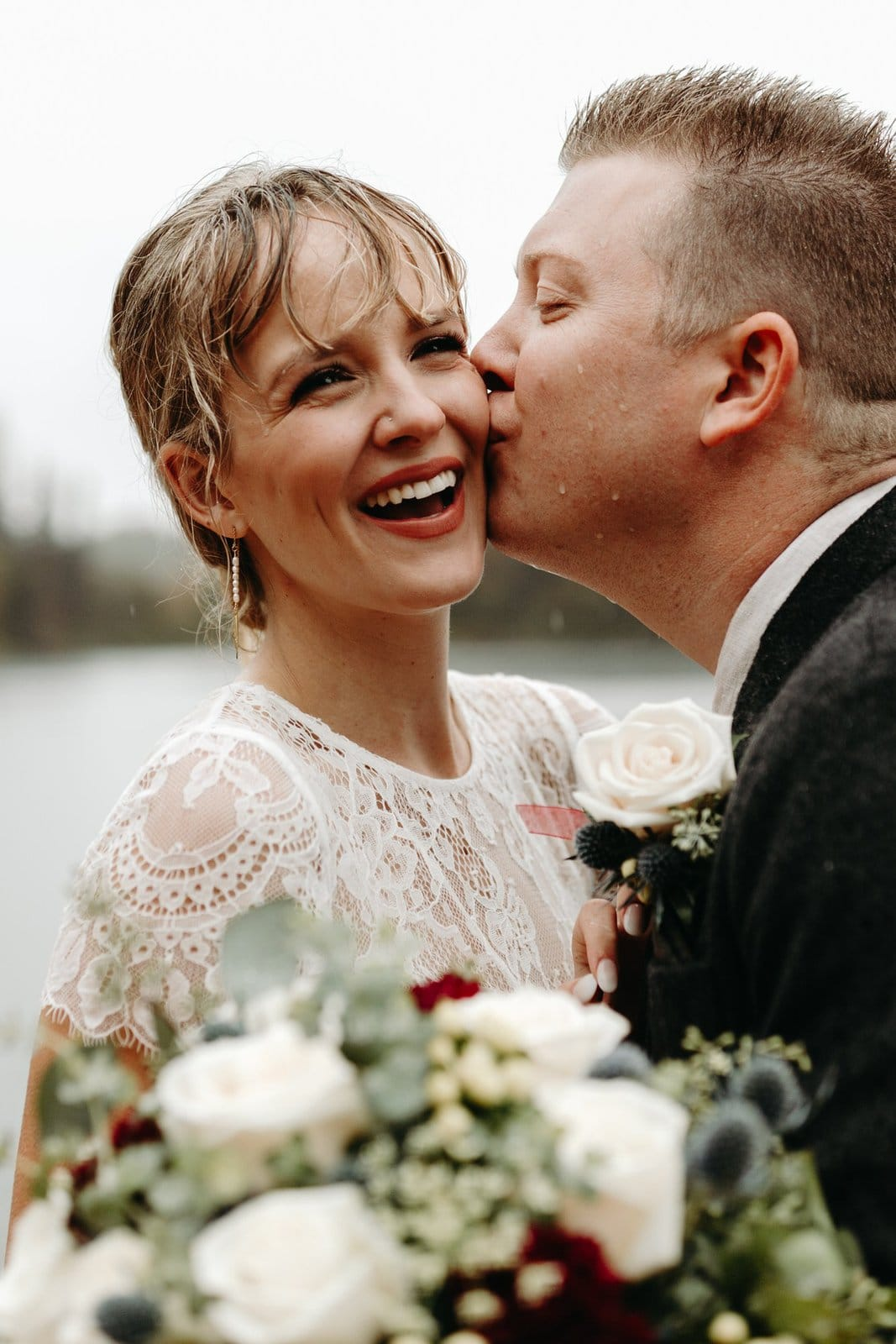 romantic elopement in Alaska