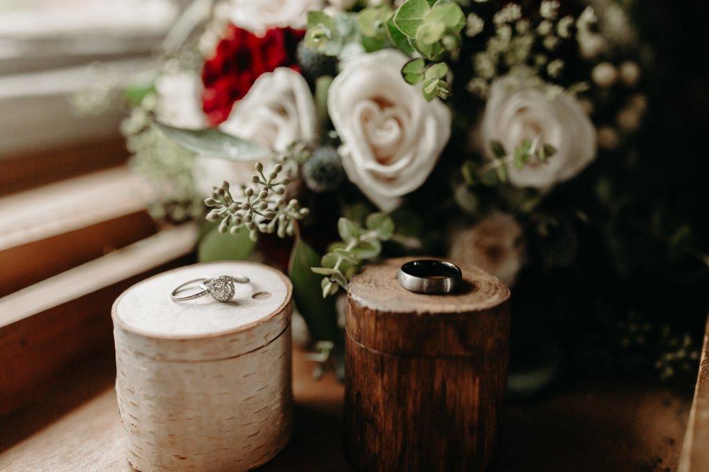 ring details during wedding