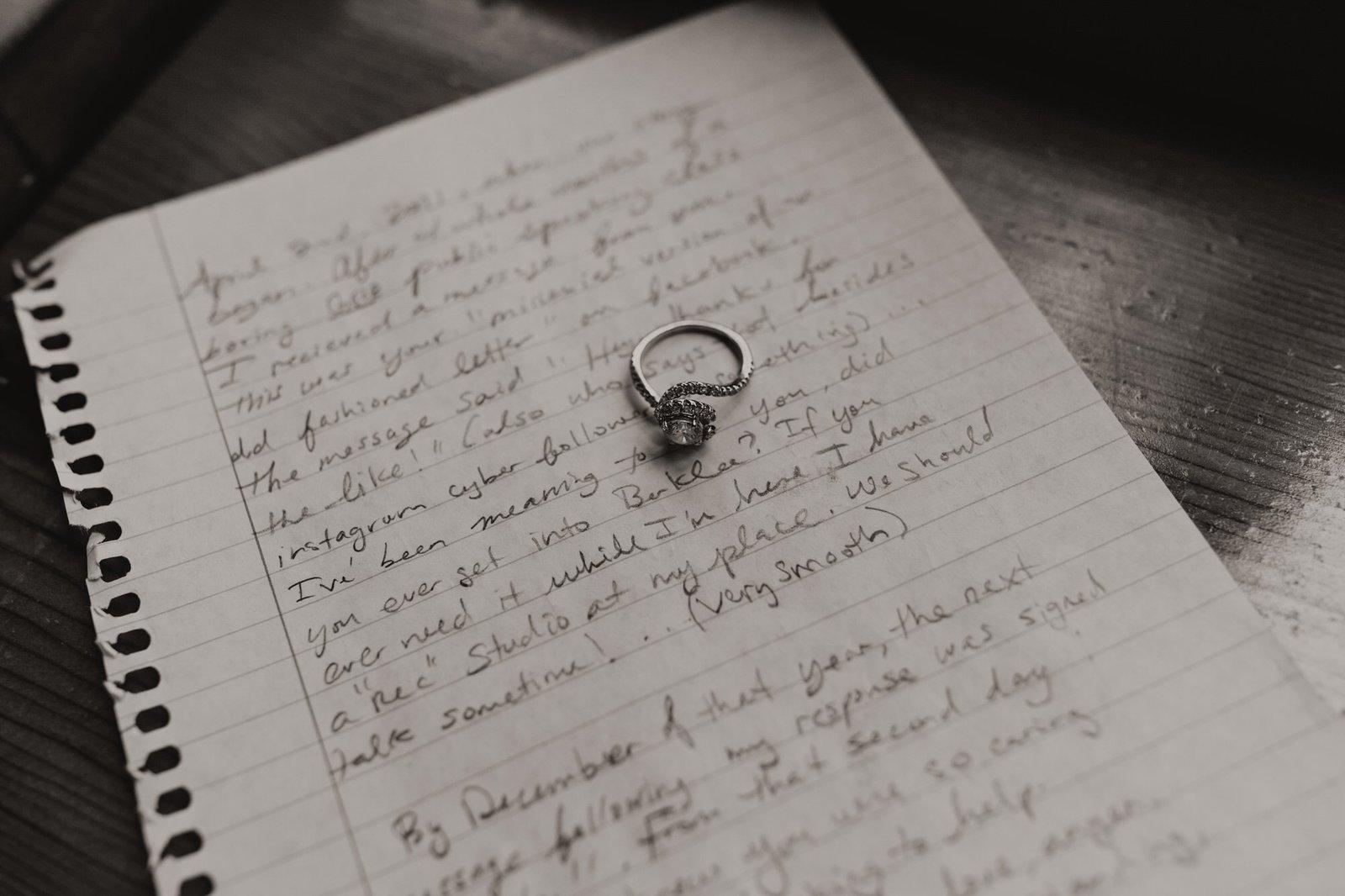 vow elopement detail shot
