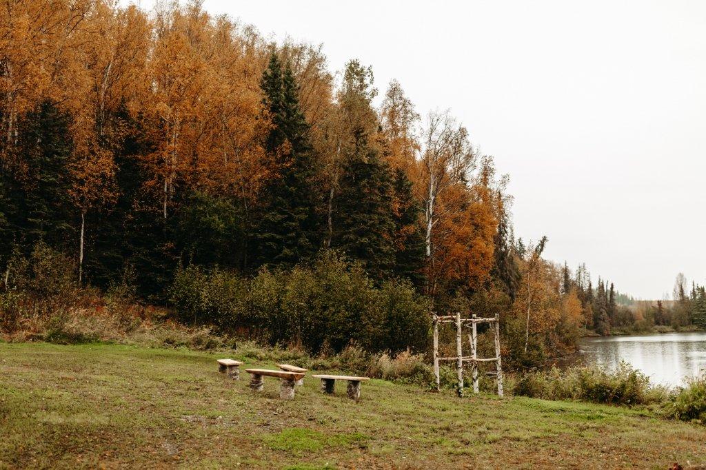 Alaska elopement in the fall