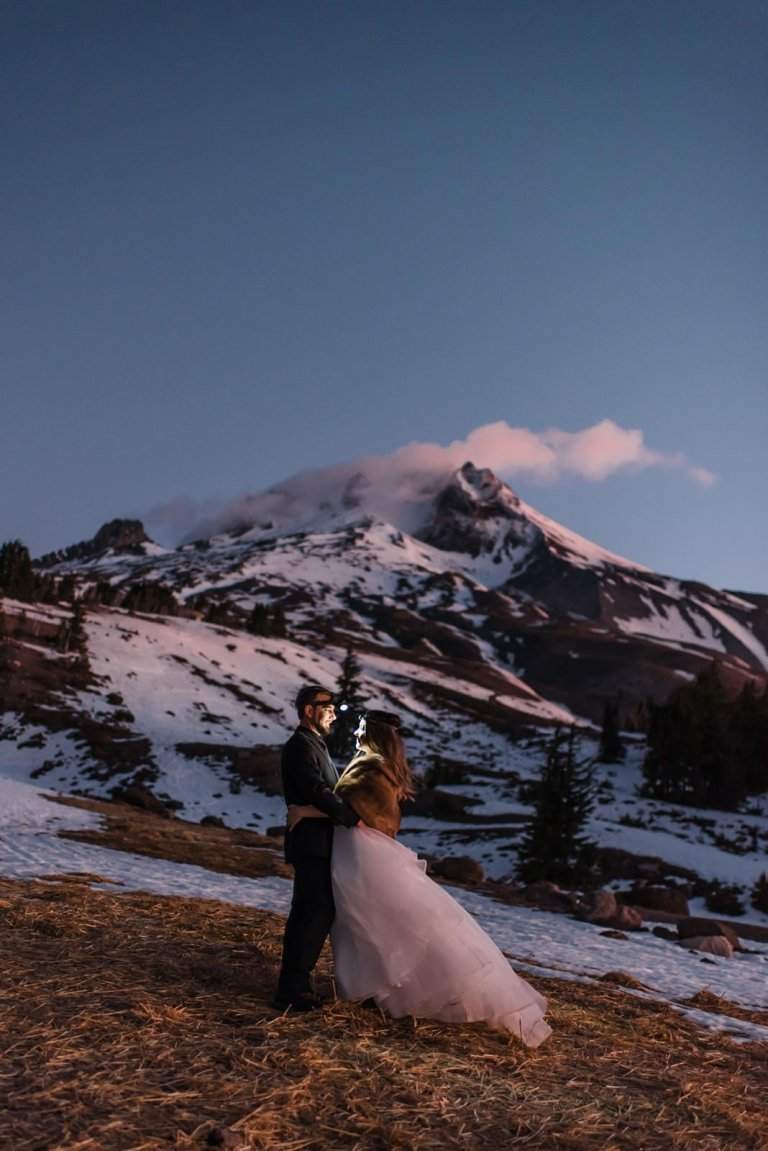 mountain elopement on mt. hood